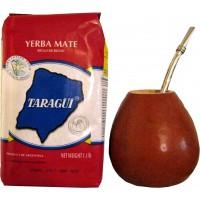 Maté Taraguï sachet de 1kg + Calebasse + paille à maté
